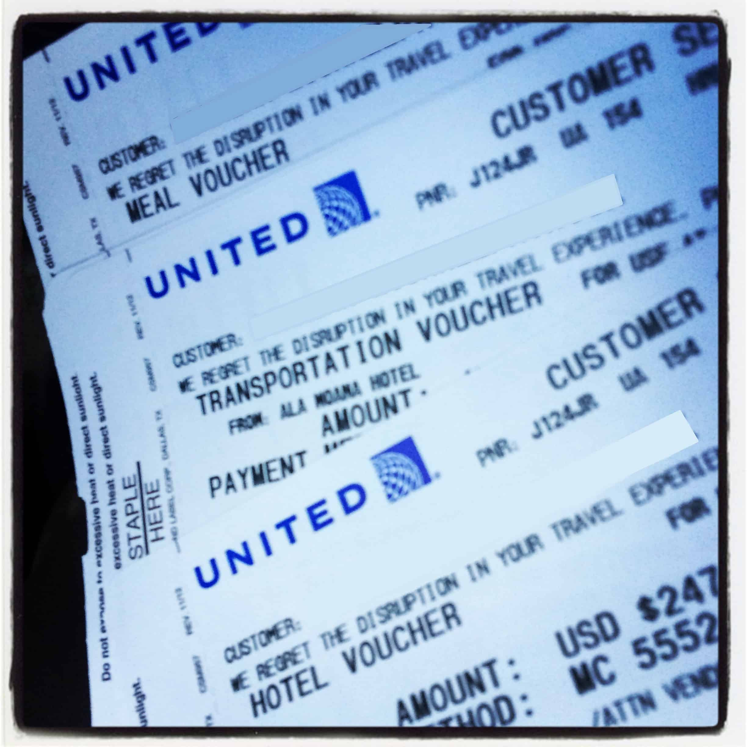 Flight of fantasy united flight 154 the island hopper i get my vouchers from the ticket agent for a free night at a hotel in honolulu two cab rides and three meals lunch dinner and breakfast thecheapjerseys Image collections